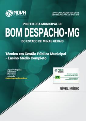 Apostila Prefeitura de Bom Despacho - MG - Técnico em Gestão Pública Municipal