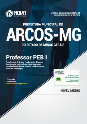 Apostila Prefeitura de Arcos - MG - Professor PEB I - Anos Iniciais do Ensino Fundamental