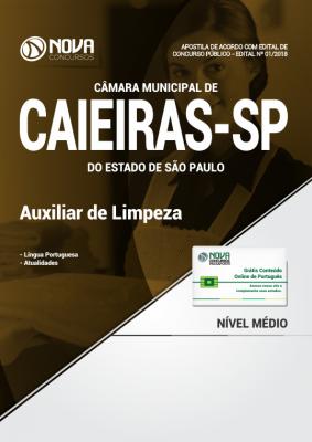 Apostila Câmara de Caieiras - SP - Auxiliar de Limpeza