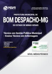 Apostila Prefeitura de Bom Despacho - MG - Técnico em Gestão Pública Municipal - Técnico em Enfermagem