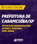 Curso Online Prefeitura de Carapicuíba - SP - Técnico em Infraestrutura de Rede e Telefonia