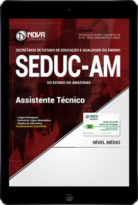 Download Apostila SEDUC - AM - Assistente Técnico (PDF)