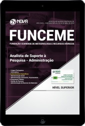 Download Apostila FUNCEME CE - Analista de Suporte à Pesquisa - Administração (PDF)