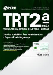 Apostila TRT-SP 2ª Região - Técnico Judiciário - Área Administrativa - Especialidade Segurança