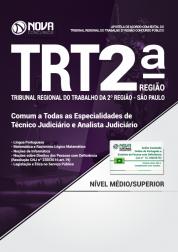 Apostila TRT-SP 2ª Região - Comum a Todas as Especialidades de Técnico Judiciário e Analista Judiciário