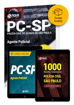 Kit Aprovação PC SP - Agente Policial - Frete Grátis