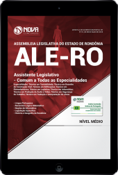 Download Apostila Assembleia Legislativa - RO (ALE-RO) - Assistente Legislativo - Comum a Todas as Especialidades (PDF)
