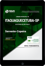 Download Apostila Câmara de Itaquaquecetuba  - SP - Servente/Copeira (PDF)