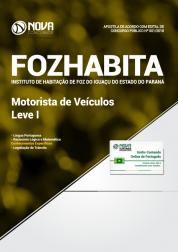 Apostila FOZHABITA PR - Motorista de Veículos Leve I