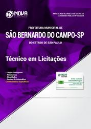 Apostila Prefeitura de São Bernardo do Campo - SP - Técnico em Licitações