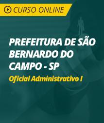 Curso Online Prefeitura de São Bernardo do Campo - SP - Oficial Administrativo I