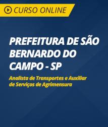 Curso Online Prefeitura de São Bernardo do Campo - SP - Analista de Transportes e Auxiliar de Serviços de Agrimensura