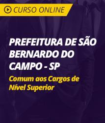 Curso Online Prefeitura de São Bernardo do Campo - SP - Comum aos Cargos de Nível Superior