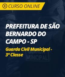 Curso Online Prefeitura de São Bernardo do Campo - SP - Guarda Civil Municipal - 3ª Classe