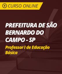 Curso Online Prefeitura de São Bernardo do Campo - SP - Professor I de Educação Básica