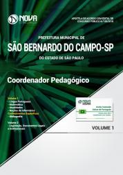 Apostila Prefeitura de São Bernardo do Campo - SP - Coordenador Pedagógico
