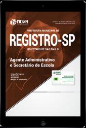 Download Apostila Prefeitura de Registro - SP - Agente Administrativo e Secretário de Escola (PDF)