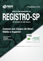 Apostila Prefeitura de Registro - SP - Comum aos Cargos de Nível Médio e Superior