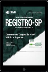 Download Apostila Prefeitura de Registro - SP - Comum aos Cargos de Nível Médio e Superior (PDF)