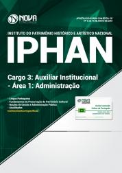 Apostila IPHAN - Cargo 3: Auxiliar Institucional - Área 1: Administração