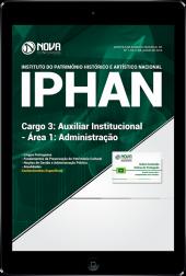 Download Apostila IPHAN - Cargo 3: Auxiliar Institucional - Área 1: Administração (PDF)