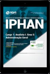 Download Apostila IPHAN - Cargo 1: Analista I - Área 5: Administração Geral (PDF)