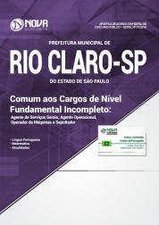 Apostila Prefeitura de Rio Claro - SP - Comum aos Cargos de Nível Fundamental Incompleto