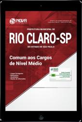 Download Apostila Prefeitura de Rio Claro - SP - Comum aos Cargos de Nível Médio (PDF)