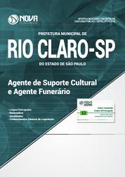 Apostila Prefeitura de Rio Claro - SP - Agente de Suporte Cultural e Agente Funerário