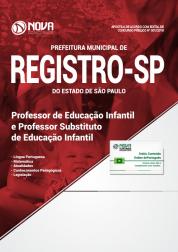 Apostila Prefeitura de Registro - SP - Professor de Educação Infantil e Professor Substituto de Educação Infantil