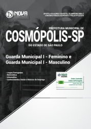 Apostila Prefeitura de Cosmópolis - SP - Guarda Municipal I - Feminino e Guarda Municipal I - Masculino