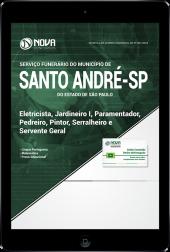 Download Apostila Prefeitura de Santo André - SP - Eletricista, Jardineiro I, Paramentador, Pedreiro, Pintor, Serralheiro e Servente Geral (PDF)