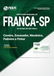 Apostila Prefeitura de Franca - SP - Coveiro, Encanador, Mecânico, Pedreiro e Pintor