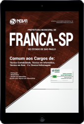 Download Apostila Prefeitura de Franca - SP - Comum aos Cargos de Técnico: Contabilidade, Informática, Raio-X e Enfermagem (PDF)
