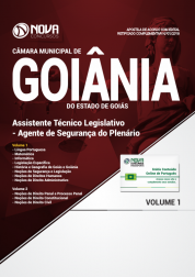 Apostila Câmara de Goiânia - GO - Assistente Técnico Legislativo - Agente de Segurança do Plenário