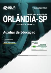 Apostila Prefeitura de Orlândia - SP - Auxiliar de Educação