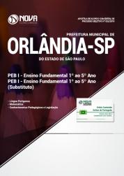 Apostila Prefeitura de Orlândia - SP - PEB I - Ensino Fundamental (1º ao 5º ano) e Substituto