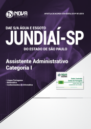 Apostila DAE de Jundiaí - SP - Assistente Administrativo - Categoria I