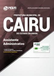 Apostila Prefeitura de Cairu - BA - Assistente Administrativo