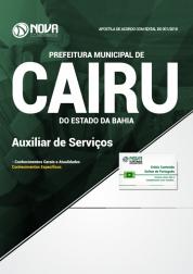 Apostila Prefeitura de Cairu - BA - Auxiliar de Serviços