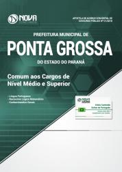 Apostila Prefeitura de Ponta Grossa - PR - Comum aos Cargos de Nível Médio e Superior