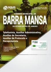 Apostila Câmara de Barra Mansa - RJ - Telefonista, Auxiliar Administrativo, Auxiliar de Secretaria, Auxiliar de Protocolo e Recepcionista