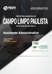 Apostila Prefeitura de Campo Limpo Paulista - SP - Assistente Administrativo