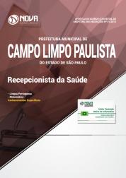 Apostila Prefeitura de Campo Limpo Paulista - SP - Recepcionista da Saúde
