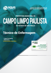 Apostila Prefeitura de Campo Limpo Paulista - SP - Técnico de Enfermagem