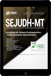 Download Apostila SEJUDH-MT - Assistente do Sistema Socioeducativo - Perfil Assistente Administrativo (PDF)