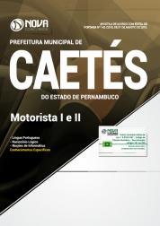 Apostila Prefeitura de Caetés - PE - Motorista I e II