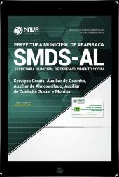 Download Apostila Prefeitura de Arapiraca - AL (SMDS) - Serviços Gerais, Aux. de Cozinha, Aux. de Almoxarifado, Aux. de Cuidador Social e Monitor (PDF)