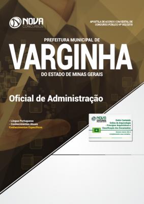 Apostila Prefeitura de Varginha - MG - Oficial de Administração