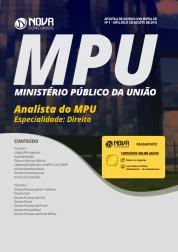 Download Apostila MPU - Analista do MPU - Especialidade: Direito (PDF)